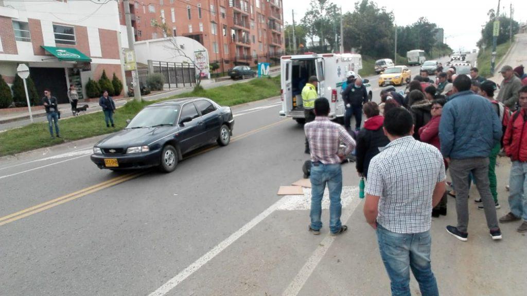 ¿Qué pasa con la inteligencia vial en Tunja? Un nuevo accidente se presentó esta mañana al norte de la ciudad 1