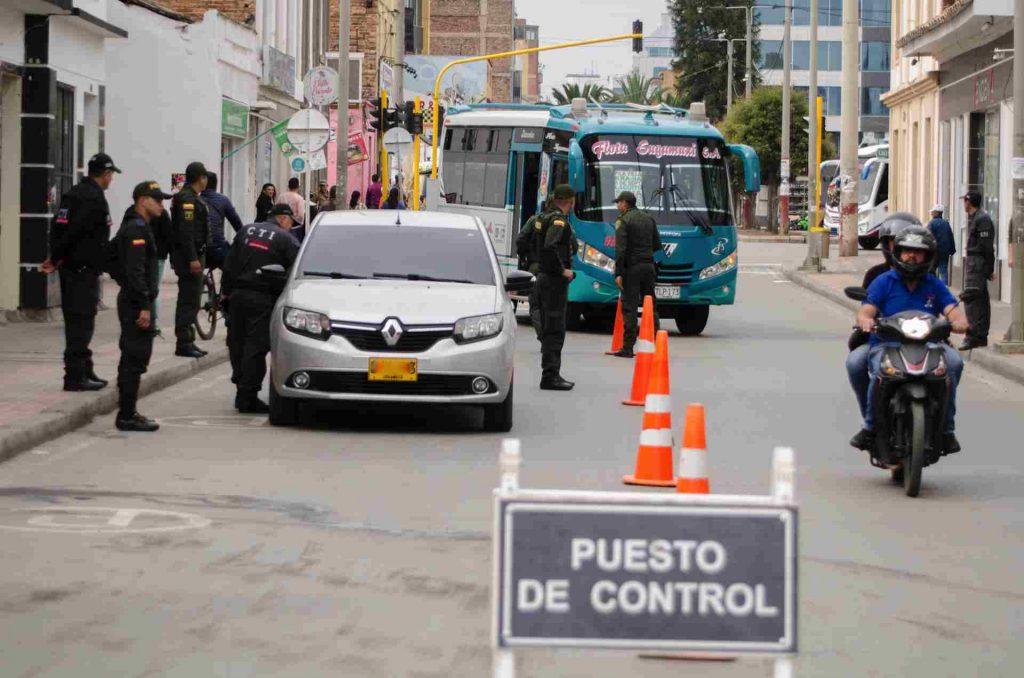 Puesto de control de tránsito