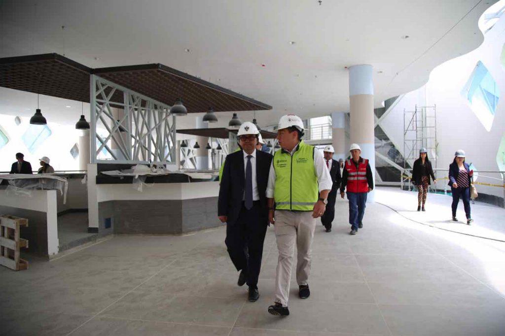Carlos Amaya visita nueva terminal de Tunja