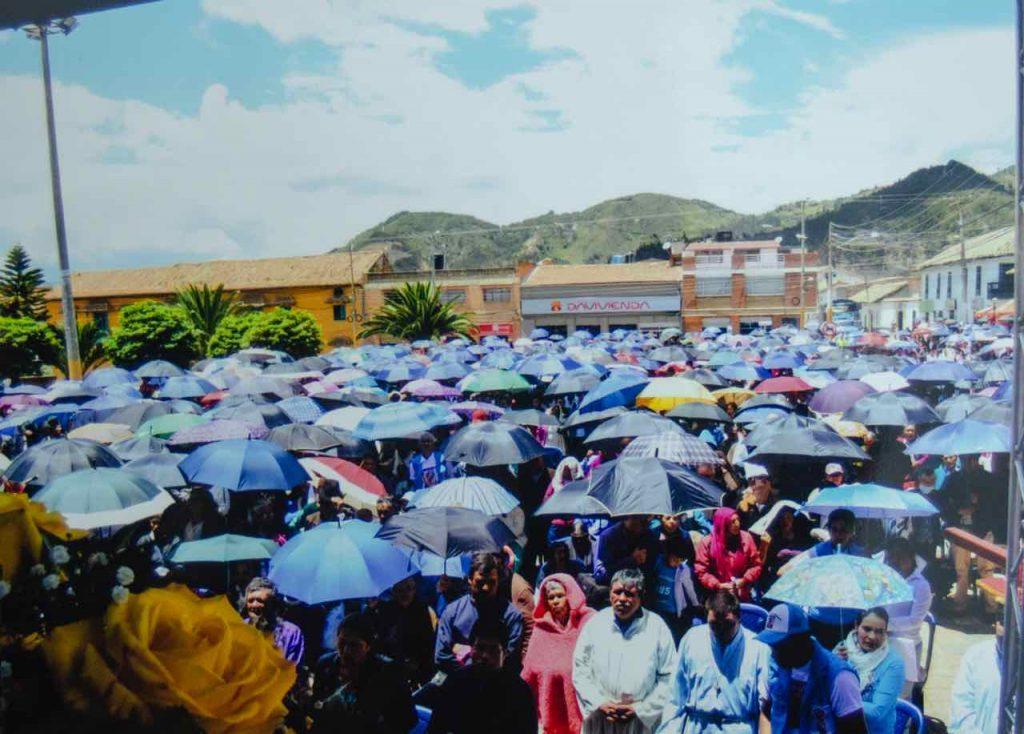 Misa campal en Samacá en honor  la Virgen del Milagro