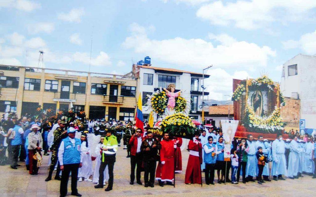 Misa en Samacá en honor a la Virgen del Milagro