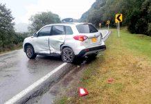 Accidente de transito en Arcabuco