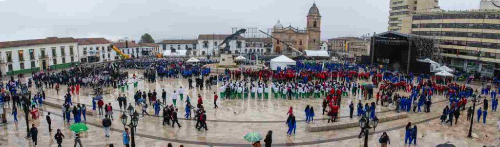 Alistando celebración en Tunja