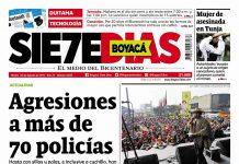 Portada Periódico Boyacá 7 Días 20 de Agosto de 2019