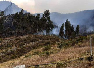 Incendio voraz en Corrales Boyacá