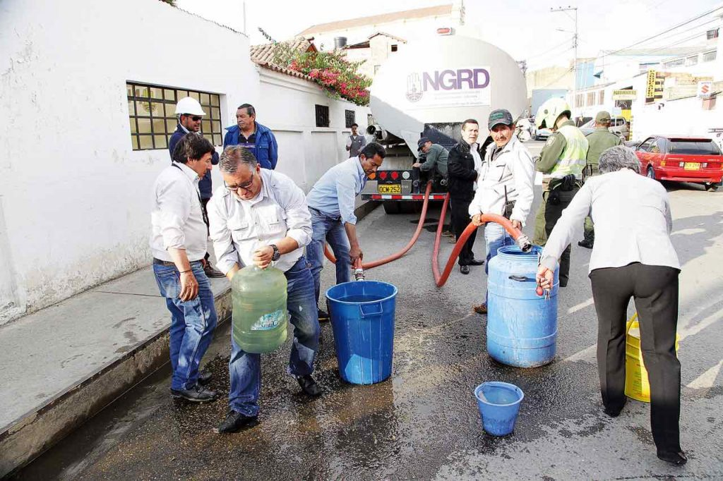 municipios sin agua