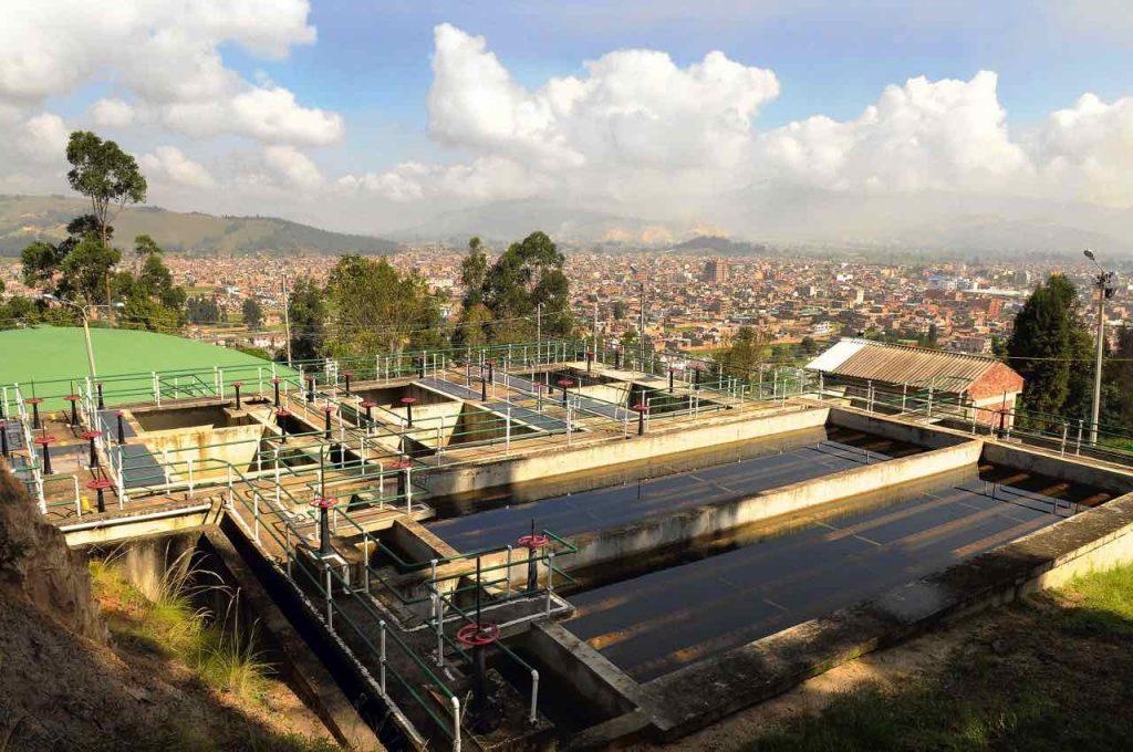 Planta de Tratamiento de Agua Potable de Chacón, que alimenta el acueducto de Sogamoso que maneja la Compañía de Servicios Coservicios