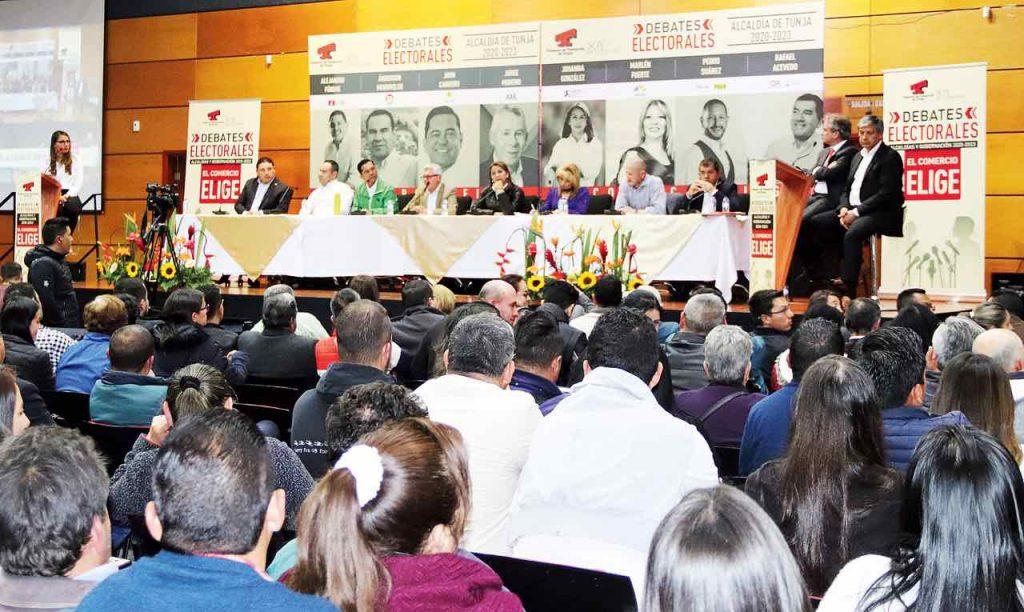 Cámara de Comercio de Tunja con los candidatos