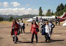 Al aeropuerto Juan José Rondón de Paipa llegó el 'Vuelo Bicentenario' con nueve empresarios