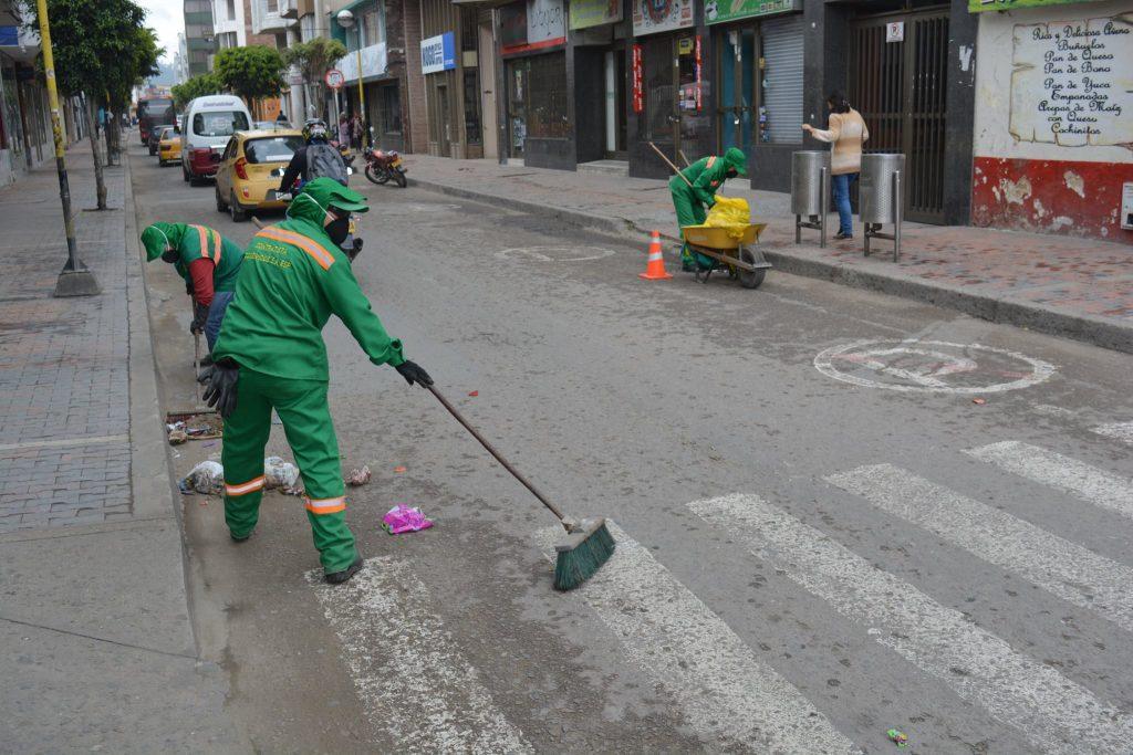 Barrido de vias en Sogamoso