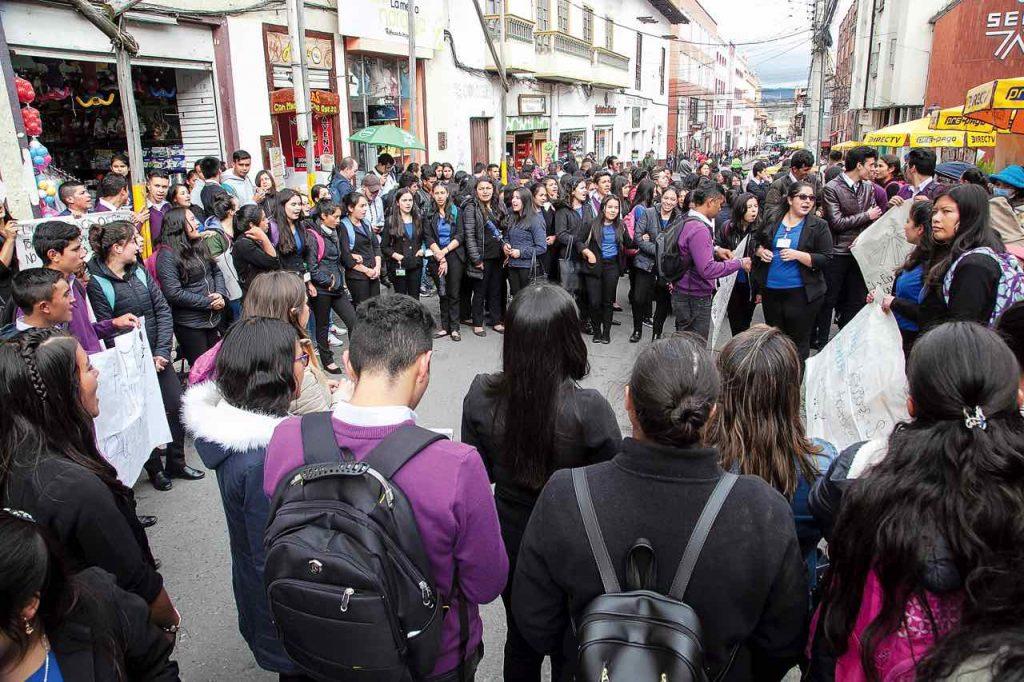 Protestas estudiantes del SENA