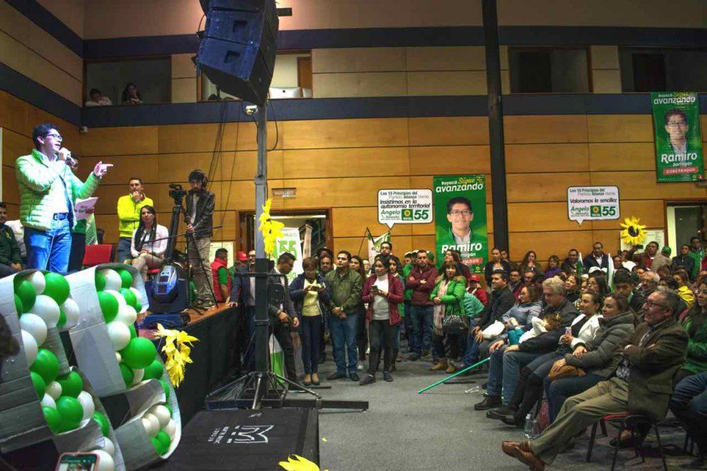 Manifestación de respaldo al nombre de Ramiro Barragán, como candidato a la gobernación de Boyacá, organizó el senador Londoño