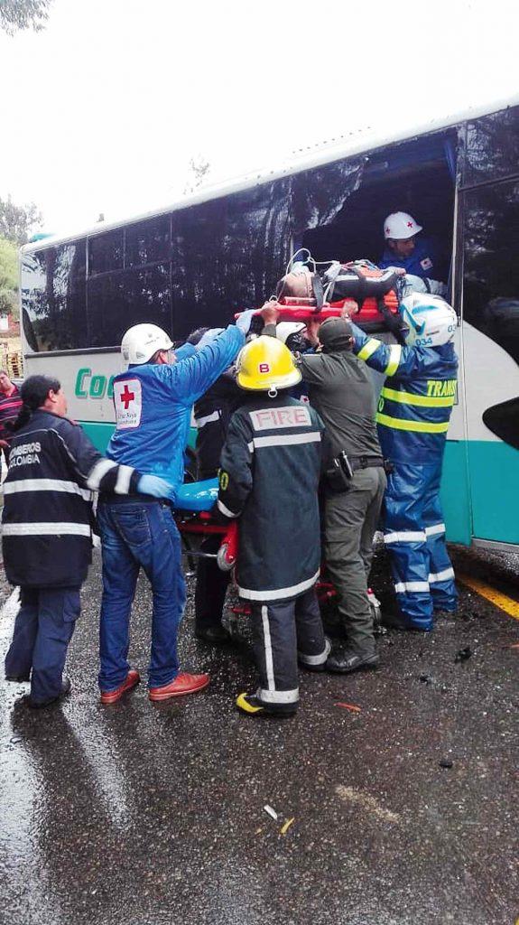 Accidente de tránsito dejó 22 heridos ayer en el Crucero 1