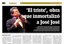 El triste de José José especial de Cultura