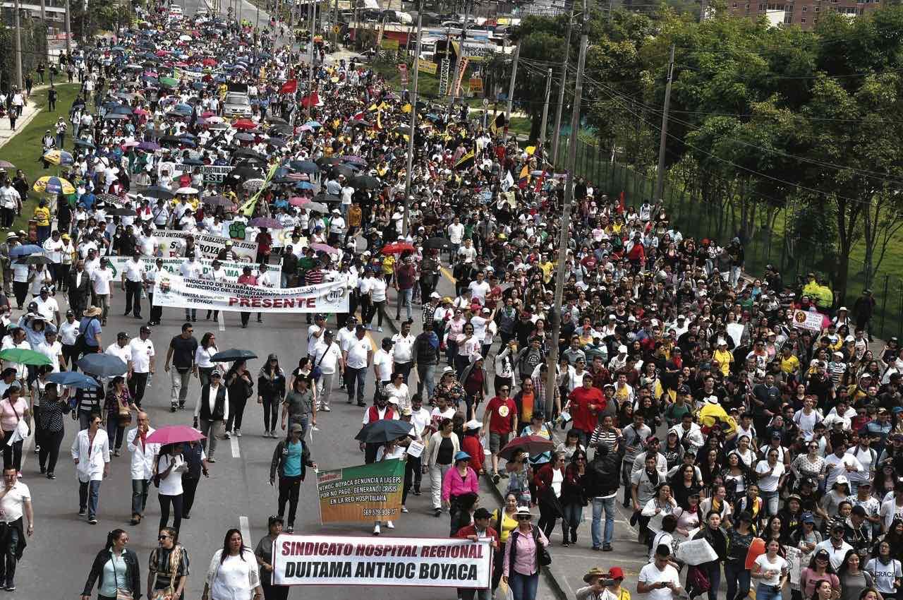 La movilización de los gremios sindicales, organizaciones sociales y estudiantes fue con tranquilidad