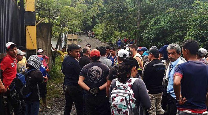 Autoridades controlaron el acceso por entradas principales, pero barequeros se filtraron por costados.