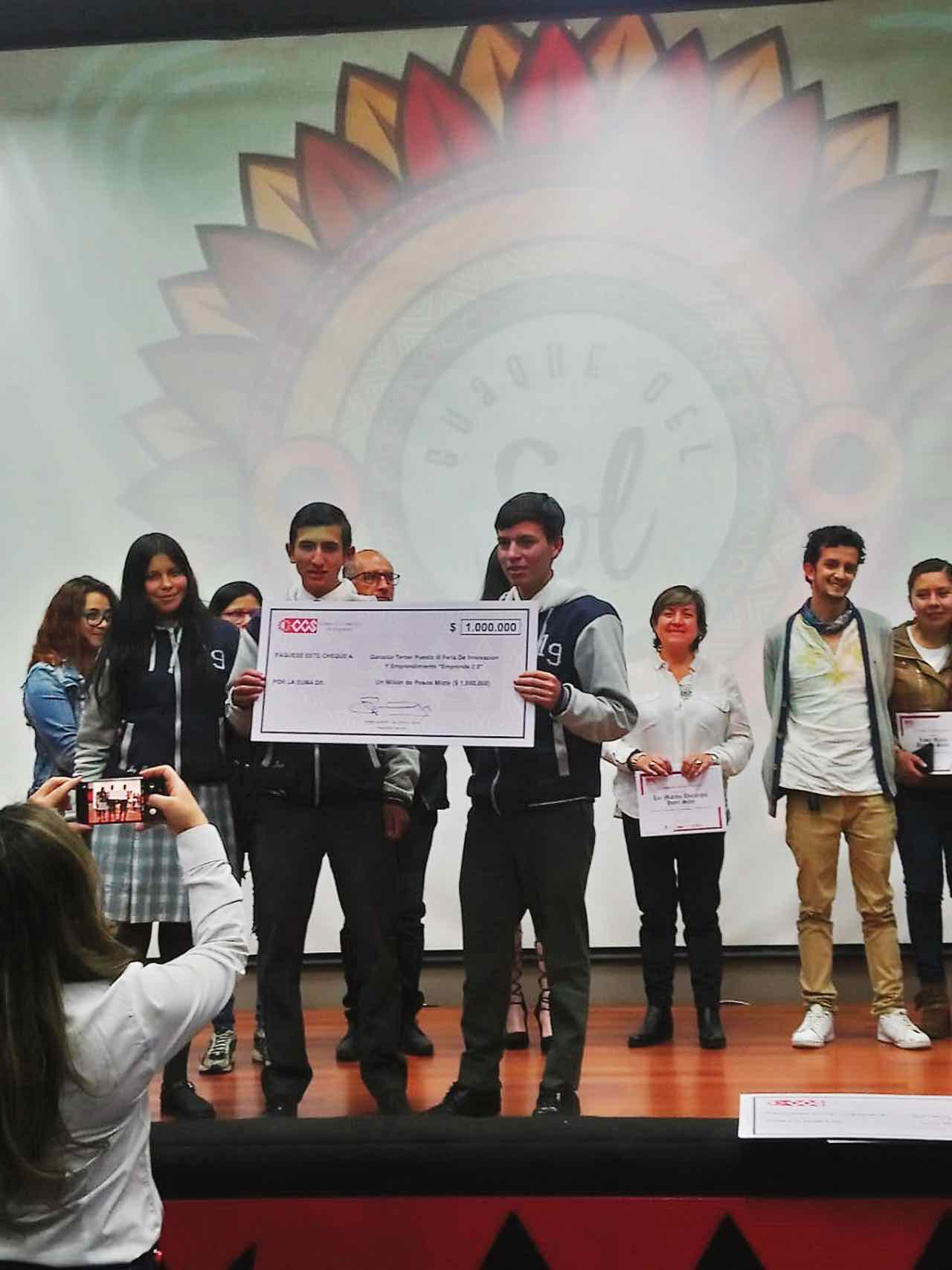 En la Feria de Innovación y Emprendimiento (Emprende 2.0) de la Cámara de Comercio de Sogamoso obtuvieron el tercer puesto.