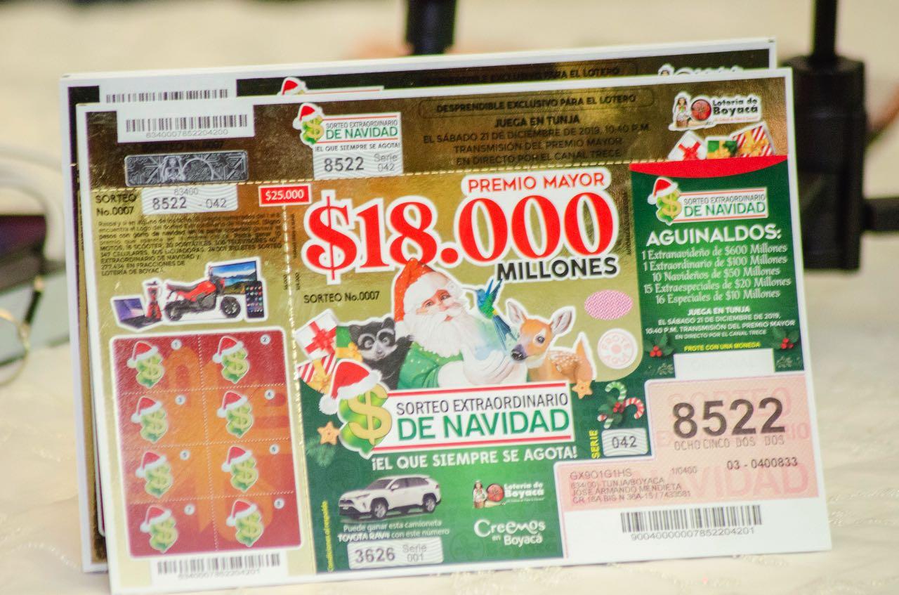 Ayer, en el Club Boyacá, el gobernador Carlos Amaya y el gerente de la Lotería de Boyacá, presentaron el plan de premios más ambicioso que haya tenido una lotería tradicional en su historia y que supera los 43.000 millones