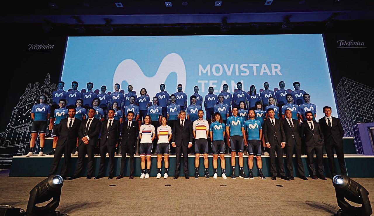 La escuadra española de Movistar está integrada por 28 ciclistas, de los cuales dos son boyacenses.