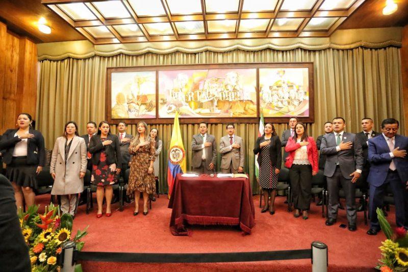 Algunos de los secretarios que tomaron posesión ante el Gobernador de Boyacá Ramiro Barragán