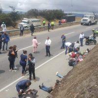 Grave accidente se atiende a esta hora en la vía Tunja - Bogotá 4