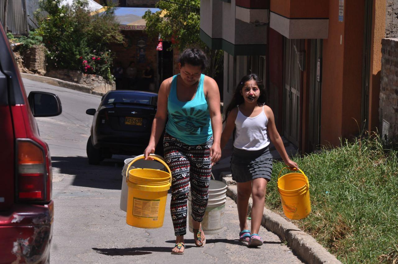 Los barrios de la parte alta han sido los más afectados por la falta del líquido: hasta ocho días sin agua