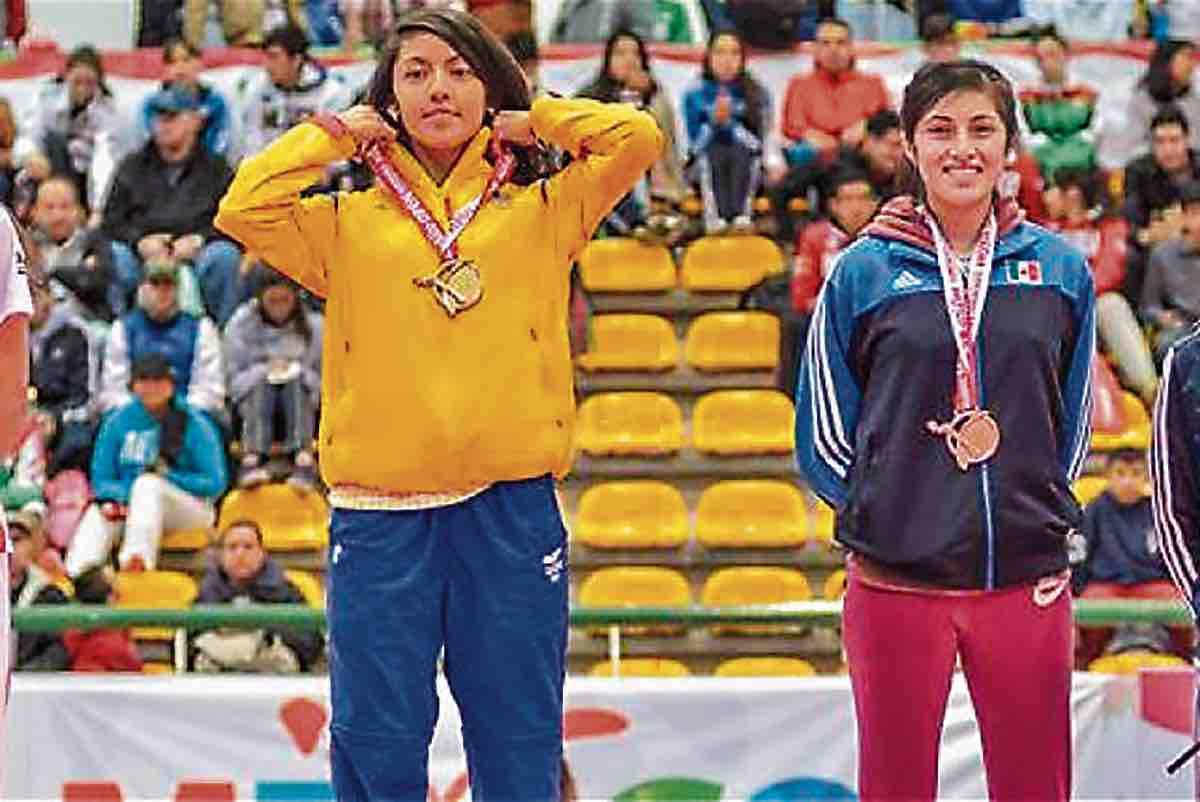 La taekwondista boyacense Ibeth Camila Rodríguez Piracón.