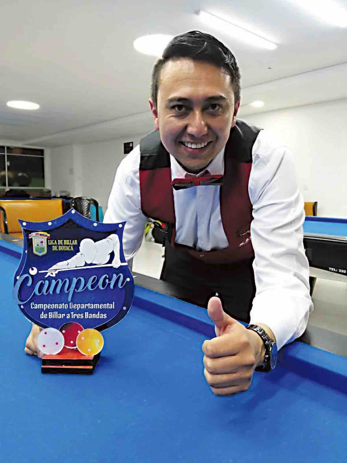 Diego Fabián López (Club Rino de Tunja), campeón del certamen.