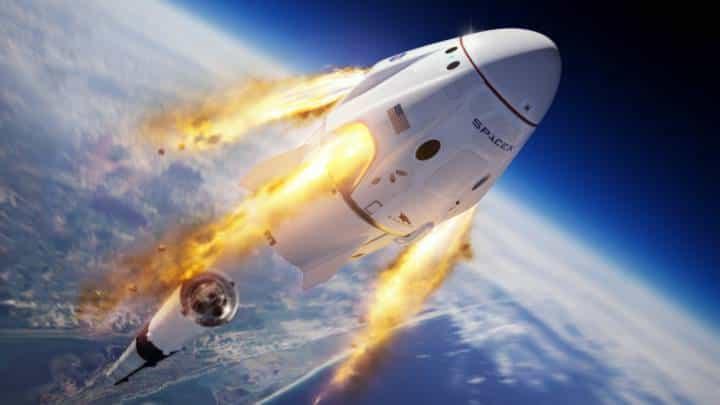 Dragon emprendió su viaje hacia la Estación Espacial Internacional tras un histórico lanzamiento Foto: Archivo Particular