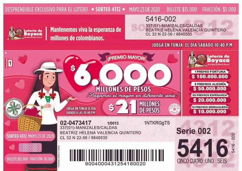 La Lotería de Boyacá redistribuyó su plan de premios, ahora hay más posibilidades de ganar 3