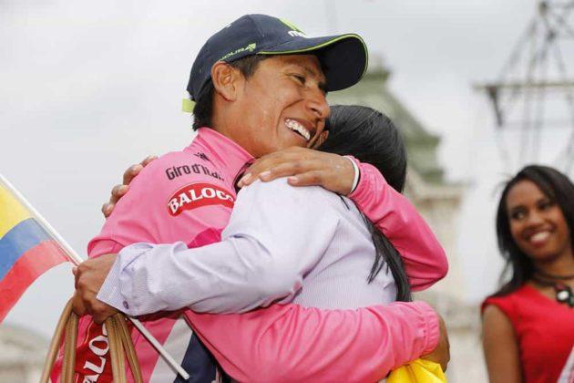 El día que Nairo Quintana, se convirtió en el primer latinoamericano en ganar el Giro de Italia 16