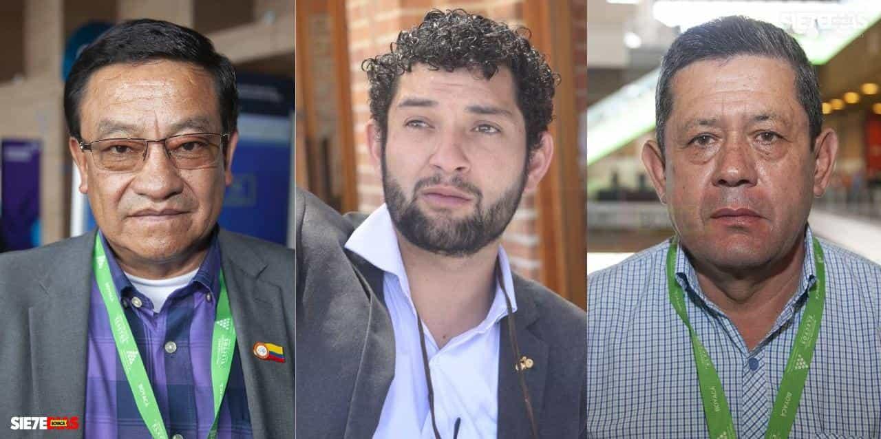 Alcaldes Henry Santiago Suta Toca - Fabio Medrano - Francisco Javier Villamíl. Fotos: Luis Lizarazo / archivo Boyacá Siete Días.
