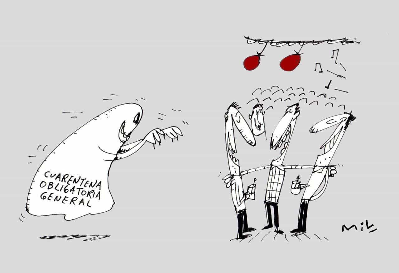Cuarentena obligatoria general #Caricatura7días