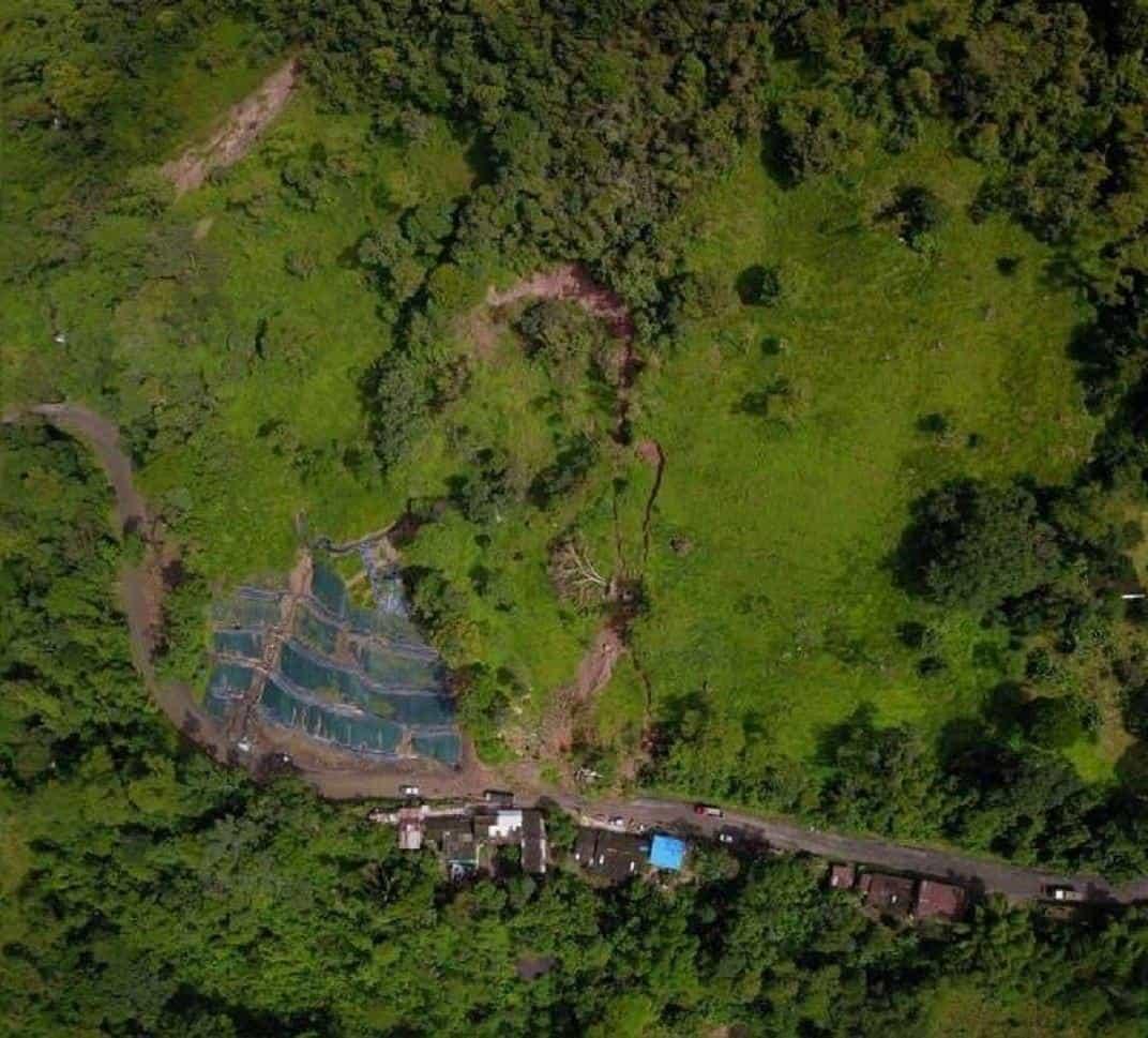 Deslizamiento de remoción en masa de la ladera del kilómetro 54 más 500 metros, en jurisdicción del municipio de Santa María. Foto: Archivo Particular
