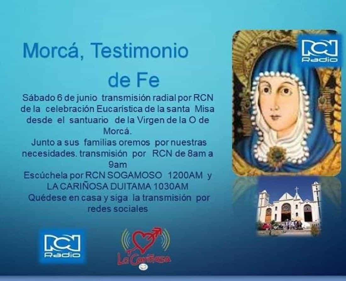 Hoy, misa de la Virgen de Morcá por la radio #Tolditos7días 1