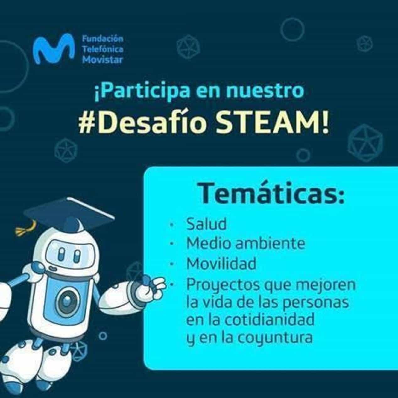 Convocatoria al desafío Steam de la Fundación Telefónica Movistar. Foto: archivo particular