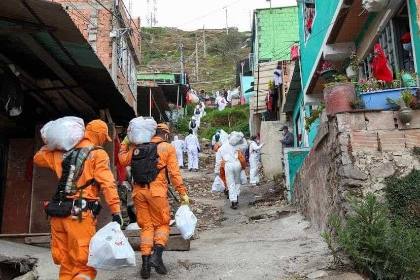 Familias vulnerables fueron las beneficiadas con los mercados de la Organización Sarmiento Angulo.