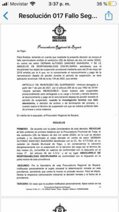Exalcalde de Moniquirá califica de absurdo el fallo de la Procuraduría que lo inhabilita por 12 años 5
