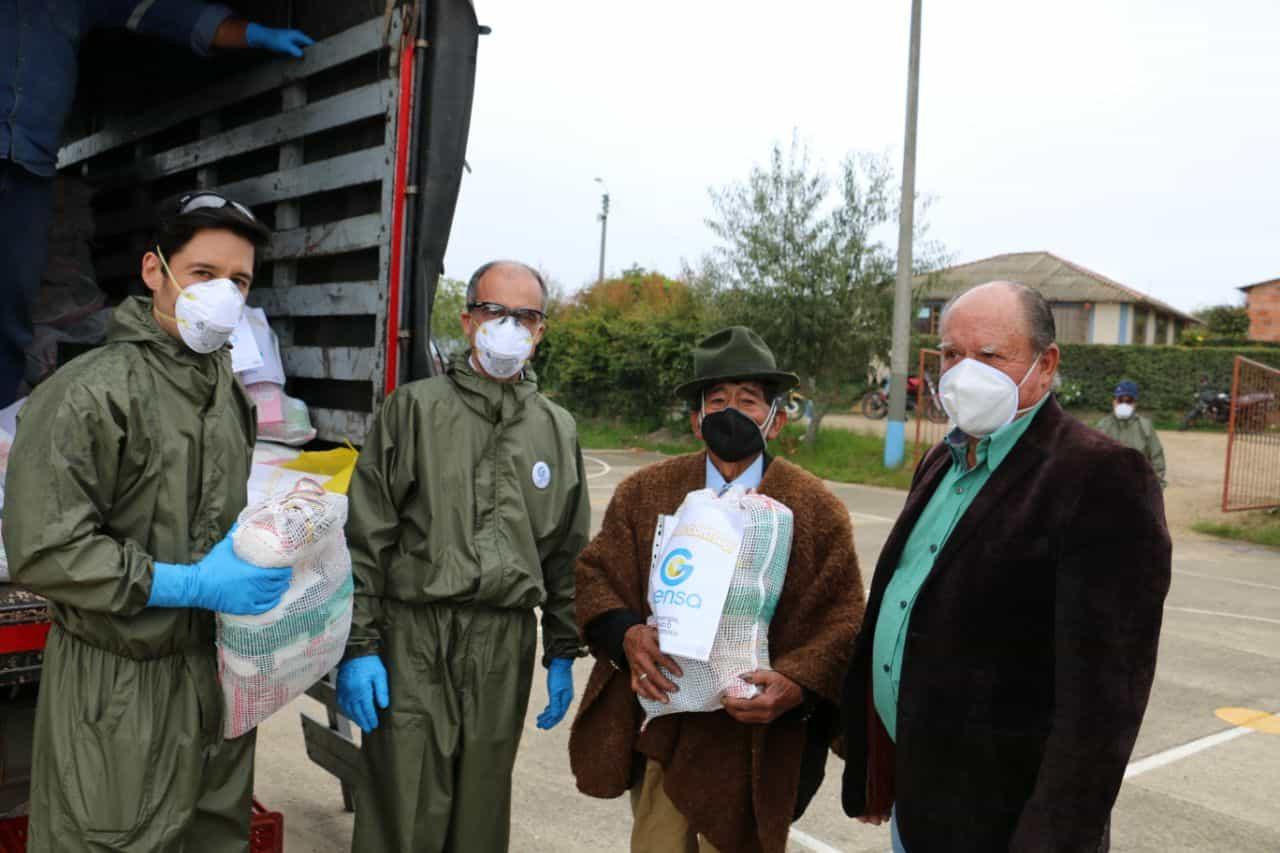 Por lo menos 800 familias se han beneficiado de la entrega de ayudas en el municipio de Paipa, durante la Pandemia. Foto: Archivo Particular
