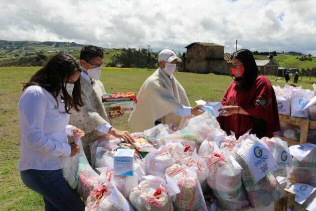 Gensa también entrega ayudas para los boyacenses en medio de la pandemia 1