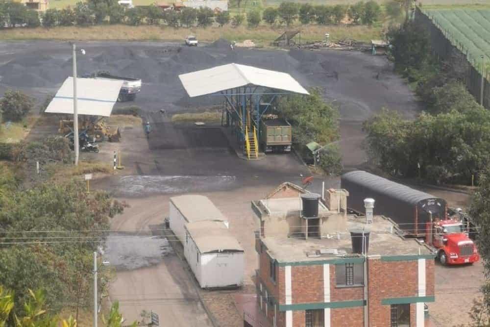 Patio de acopio de carbón de propiedad de Luis Abraham López Barrera, ubicado en la vereda Chámeza, que será visitado por Corpoboyacá el 3 de agosto del 2020. Foto: archivo particular