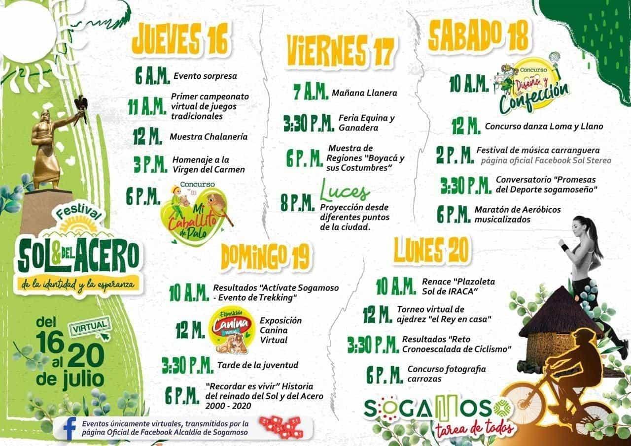 En esta ocasión la programación de las festividades julianas de Sogamoso será completamente virtual. Foto: Prensa Alcaldía de Sogamoso
