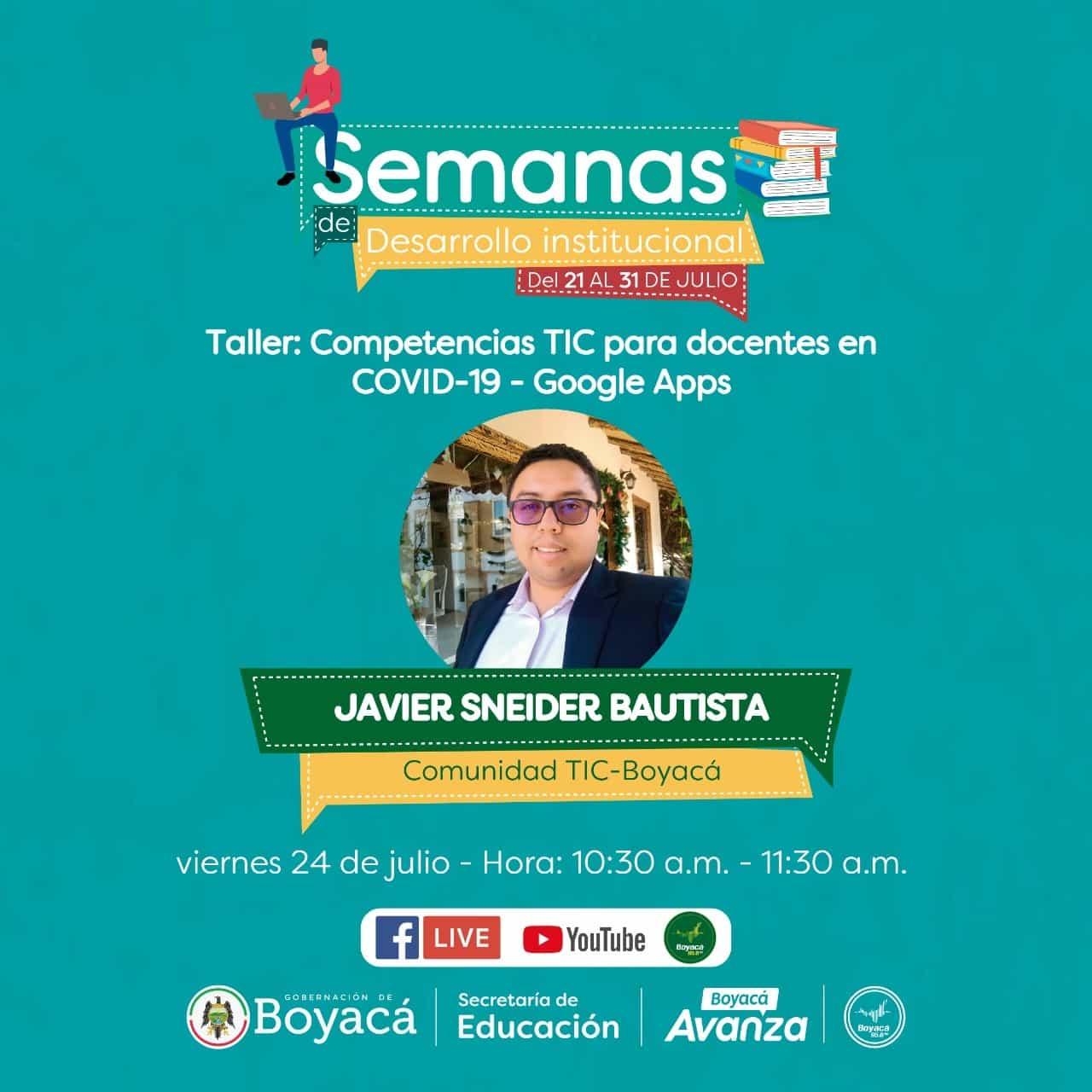 Hoy a las 10:30am #EnVivo desde el Canal de Youtube de la Secretaría de Educación de Boyacá.