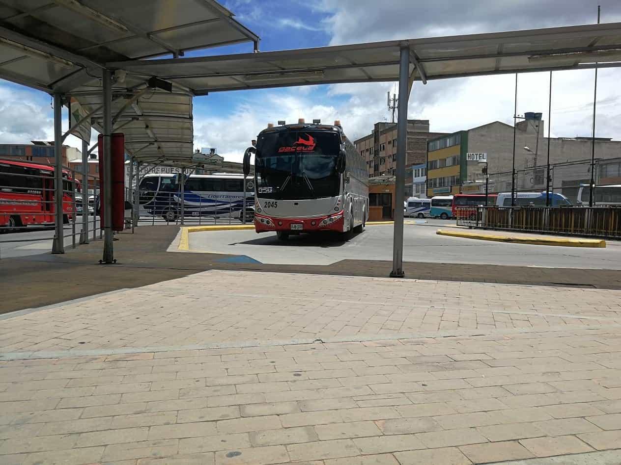 Terminal de Transportes de Sogamoso, desde donde se reactivará a partir de hoy el despacho de buses hacia Tunja. Foto: archivo particular
