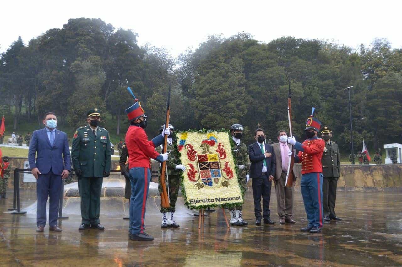 Así fue la conmemoración de los 201 años de la Batalla del puente de Boyacá en medio de la pandemia 1
