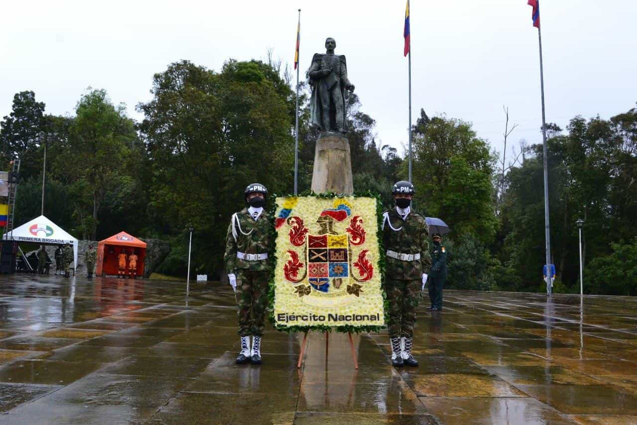 Así fue la conmemoración de los 201 años de la Batalla del puente de Boyacá en medio de la pandemia 8