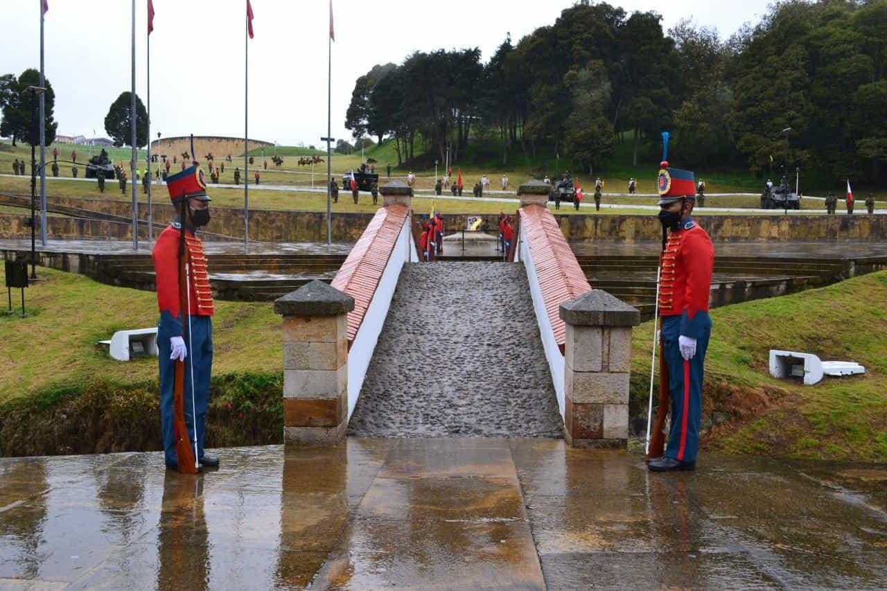 Así fue la conmemoración de los 201 años de la Batalla del puente de Boyacá en medio de la pandemia 9