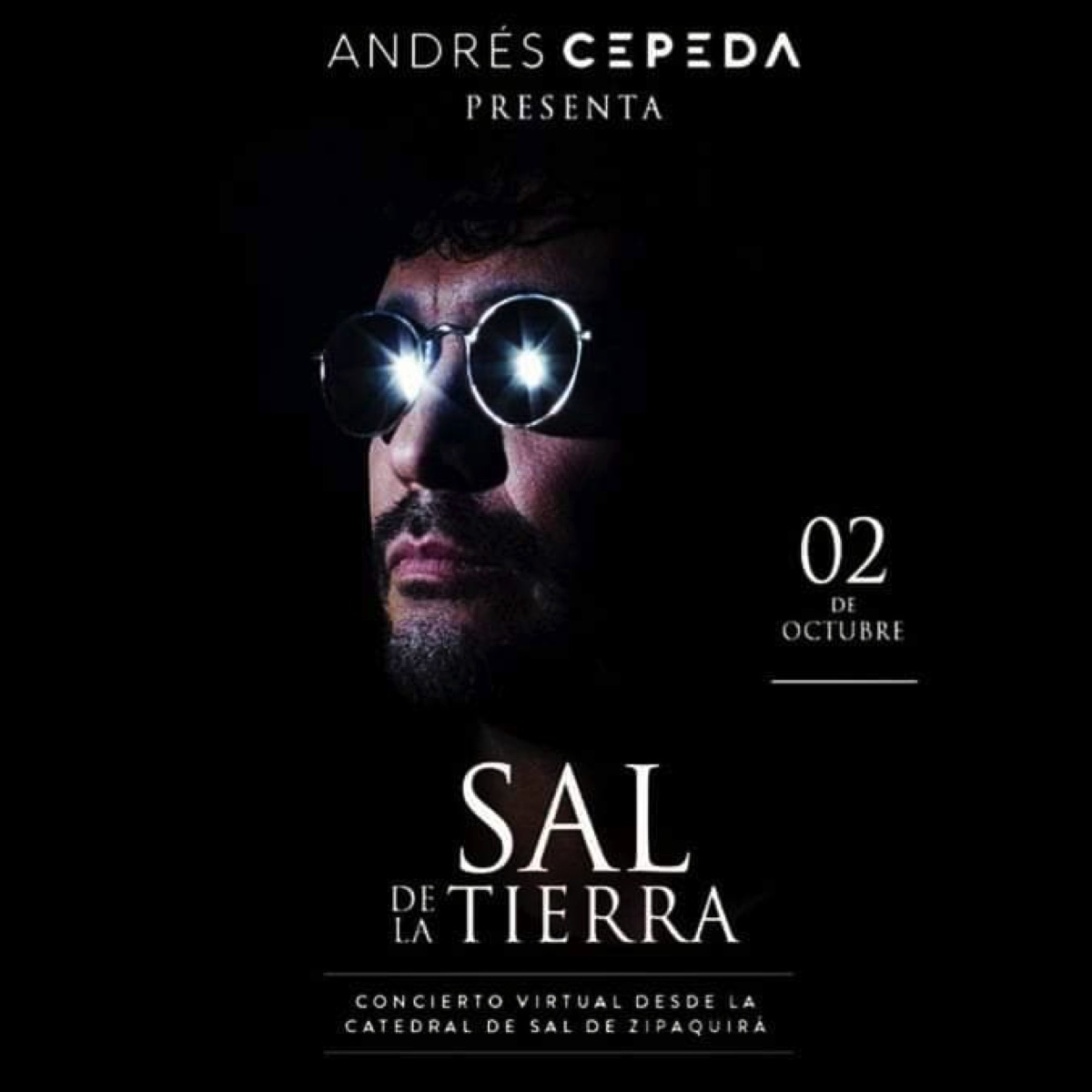 """""""SAL DE LA TIERRA"""" El nuevo proyecto de Andrés Cepeda. Póster oficial del evento - Archivo particular."""