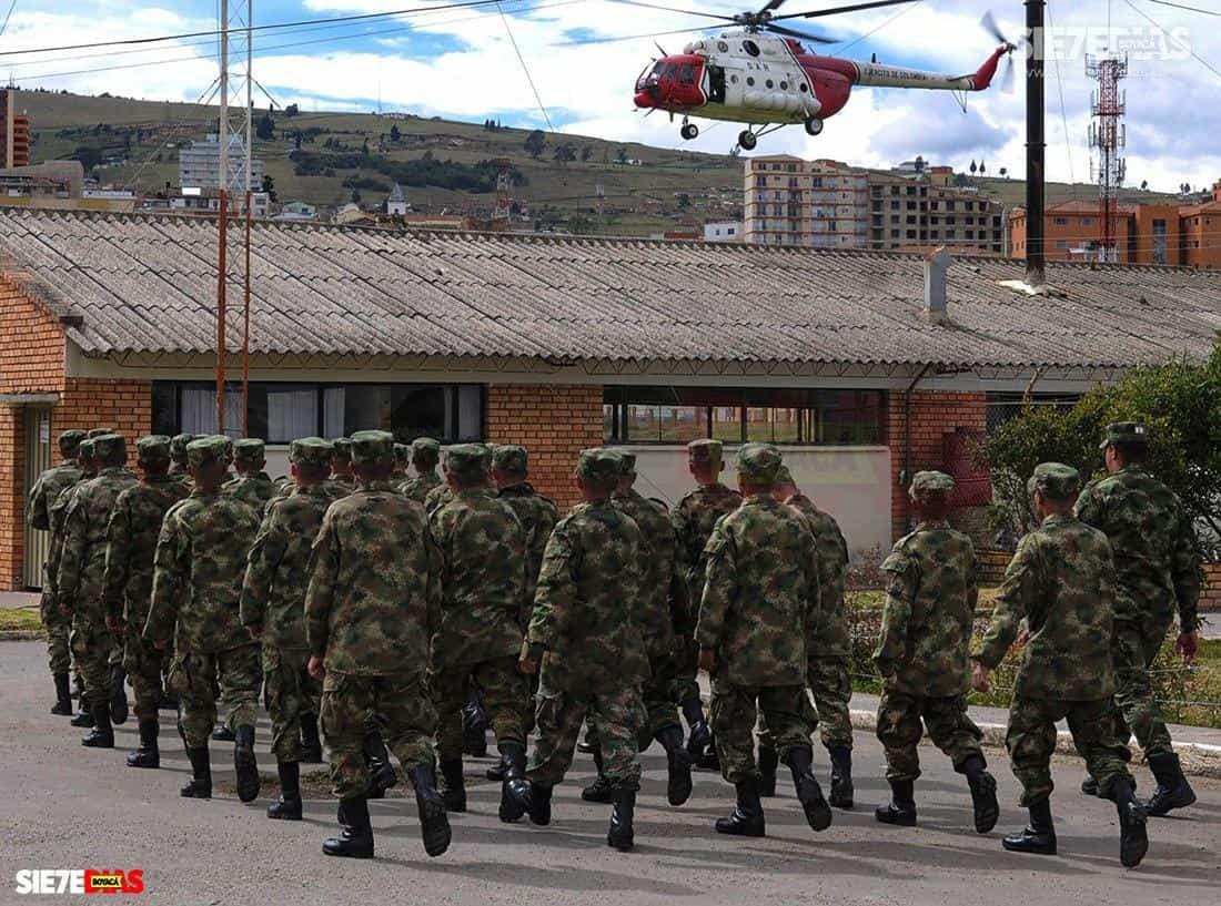Batallón Bolívar de Tunja. Foto: archivo Boyacá Siete Días.