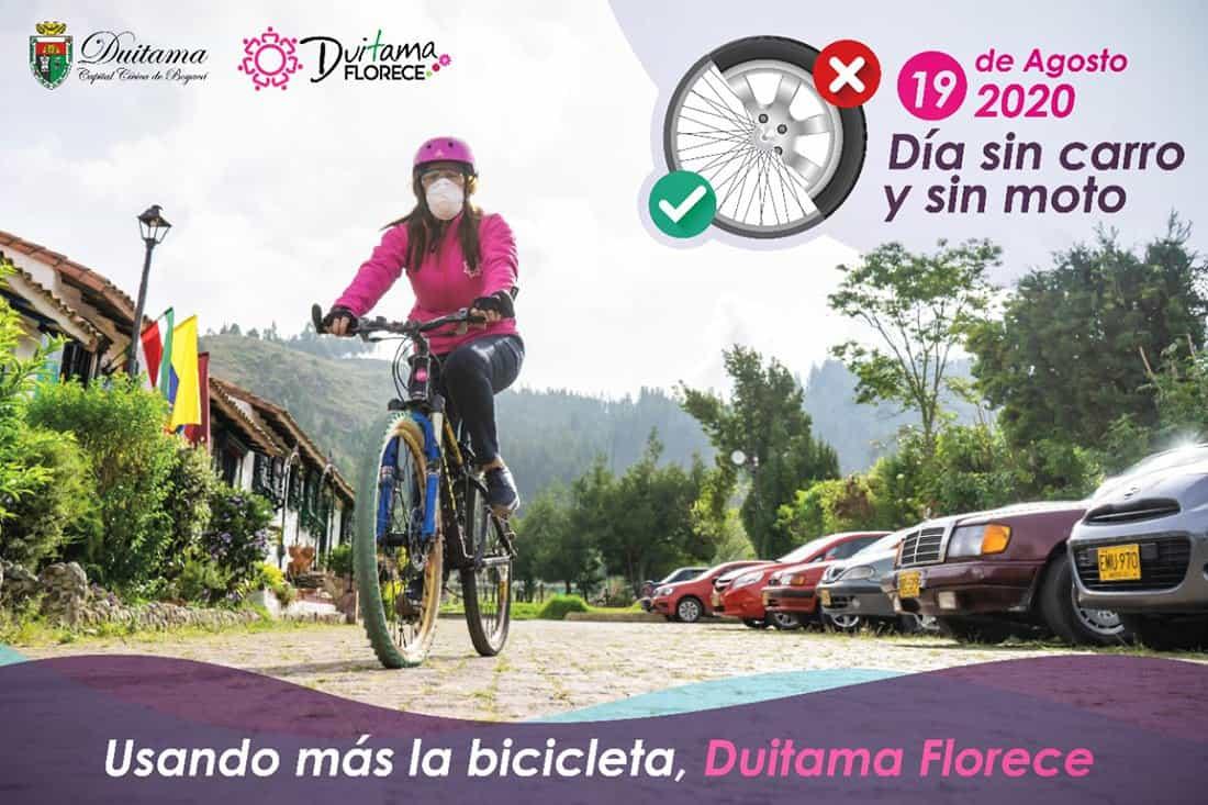 Desde el gobierno de Constanza Ramírez están incentivando para que hoy los duitamenses se desplacen en bicicleta, patineta o caminando.